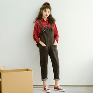 Pengpious new spring black jeans jumpsuit women denim overall pants