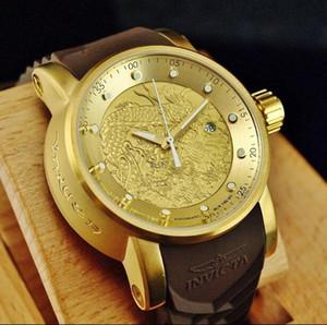 2019 Ultima versione COSC svizzero leader perfetta qualità del marchio INVICTA grande quadrante orologio al quarzo multifunzione Uomini luminosi in acciaio inox di