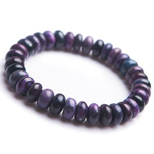 Drop Shipping Natural Purple Sugilite Gemstone Abacus Marquise Bead Healing Crystal Fitness Bracelets For Women Femme