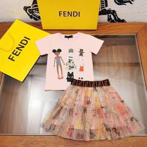 conjunto de roupas aniversário meninas roupa 2pcs crianças meninas da moda meninas