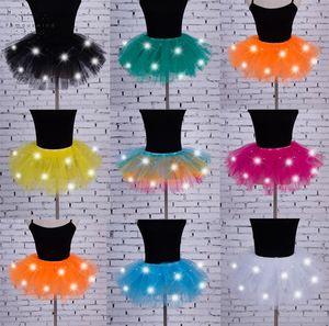 Женщины партии Нового Юбки Led Light Up Тюль Женщины Юбка Fancy Hen Хеллоуин костюм Игроки женщины Юбка