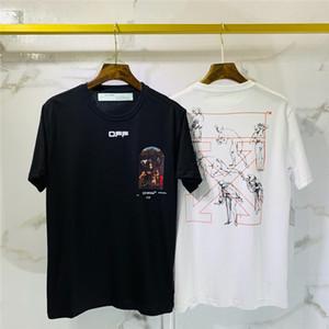 2020 Hommes TShirt Hommes Femmes de haute qualité à manches courtes Fashion Boy London Men Rupture de la lettre d'impression T 053