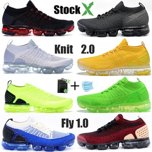nike vapormax flyknite 2019 Knite 2.0 1.0 Hombres Zapatos para correr CNY Tiger Team Red Obsidian Triple Black White Thunder Grey Designer Sneaker Trainers 36-45
