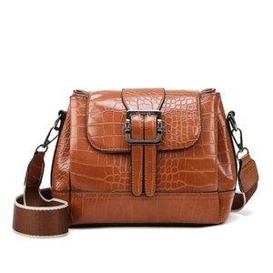 LONOOLISA Классический Крокодил шаблон Crossbody Сумки для женщин Сумки женские Сумки трехслойный Карман Shoulder Bag