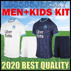 Kinder-Kit Olympique Marseille 20 21 Fußball Jersey nach Hause Maillot De Fuß PAYET L.GUSTAVO THAUVIN BALOTELLI OM 2020 2021 Marseille Trikots Kind