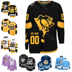 Männer Kinder Frauen Pittsburgh Penguins Bryan Rust Jersey Eishockey Dominik Simon Brian Dumoulin Olli Maatta Stadion von Zach Aston-Reese 2019