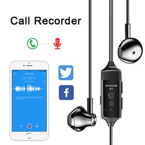 Phone Call Recorder HD écouteurs Enregistrement vocal 200mAh Batterie intra-auriculaires Moniteur APP contrôle