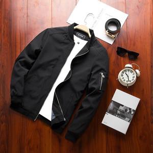 Мода Весна новый мужской Bomber Jacket Zipper Мужской Повседневный Streetwear Hip Hop Slim Fit Pilot пальто Мужская одежда плюс размер 4XL
