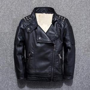 Abbigliamento bambino giacche in pelle 2018 autunno e inverno new boy plus giacca in velluto giacca per bambini camicia bambino marea