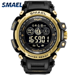 Мужские цифровые наручные часы светодиодный дисплей SMAEL часы для мужчин цифровые часы Мужские спортивные часы большой циферблат 8018 Wtaerproof мужские часы