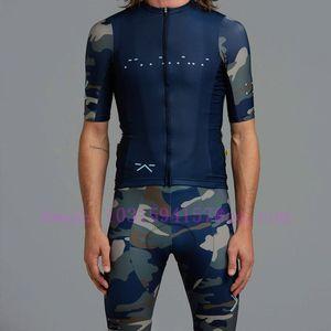 2020 blue Cycling Clothes Set Short sleeve Jersey and bib shorts Kit Summer Men bike clothing MTB Ropa Ciclismo Mailot hombre