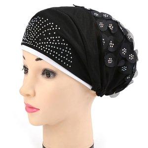 Collo di copertura musulmano Hijabs Foulard Hijab Donne Hat Cap Cap Sciarpa del cotone Sotto Bone Bonnet delle donne musulmane