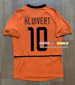 Retro Netherlands soccer jersey 2002 Vintage Holland football shirt 02 04 home orange v.NISTELROOY KLUIVERT van der Meyde DVIDS COCU jerseys