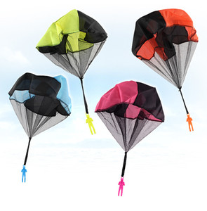 4Set Kids Hand Throwing Parachute Toy For Children's Educational Parachute With Figure Soldier Outdoor Fun Sports Play Game