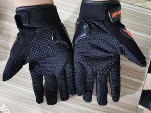 اصبع قفازات للدراجات النارية كاوازاكي الصلب المفصل الكامل PU جلد مقاوم للماء واقية سباق السائق ركوب الدراجات النارية موتو موتو 006