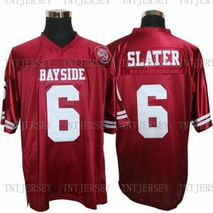 Günstige individuell Saved By The Bell AC Slater # 6 Bayside Tiger-Fußball-Trikots Stitching Persönlichkeit Anpassung beliebiger Name Nummer XS-5XL