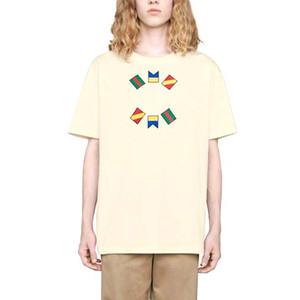 20SS Made in Italy T-shirt do logotipo Letra geométrica Impresso T Simples Moda manga curta Homens Mulheres Verão High Street T-shirt HFYMTX645