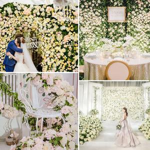 Hydrangea artificial flor de pared de 40 * 60 cm de Navidad Decoración Fotografía Telón de fondo romántico de la boda decoración de la flor VT0502 la fuente del banquete