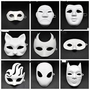 Máscaras Livro Branco DIY Unpainted animal herói Venetian Máscara para Máscaras Homens Mulher Kids cara Carnaval de Natal Ano Novo LXL1010-1