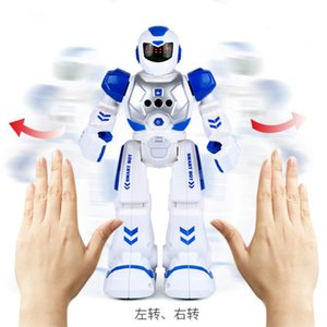 WJ1032X15 Remote control intelligent men early education English robot products children induction gifts toys USB charging wholesale