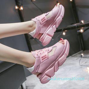 Luxury Shoes Women Designers Breathable Platform Sandals 2020 Summer Woman Sneakers Sweet Girls Comfort Flat Sandalias Mujer s06