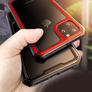 Téléphone cas pour l'iPhone 11 pour iPhone 11 Pro pour iPhone 11 Pro Max Luxe Contraste Couleur Cadre PC + TPU étui de protection transparent