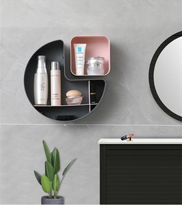 Stile europeo Parete ripiano Hanging camera da letto cremagliera cucina deposito cremagliera multi-grid punzonatura libero vivente mobiletto del bagno camera