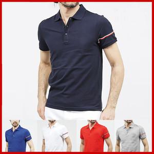 Хлопок Известного Мужских рубашек поло Sexy Печать Slim Fit вышивка поло рубашка Люди дышащего Весна Homme Men Камиз МАЙКА