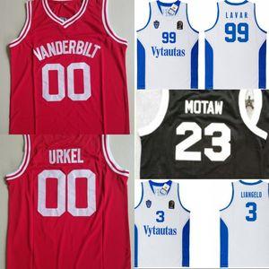 Steve Urkel #00 Vanderbilt HS Basketball Jersey Lithuania Prienu Vytautas Basketball Shirt Liangelo 3 Ball Uniform 99 Lavar Ball Jerseys