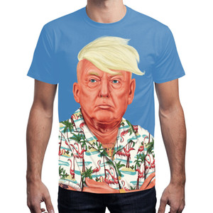 President Trump 2020 Political American street youth 3D usa digital printing round collar short sleeve t-shirts and wms christmas gift
