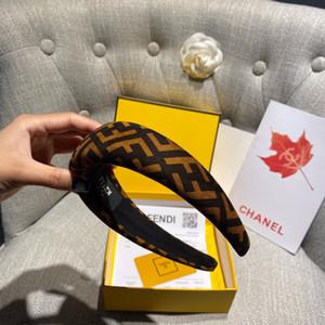F saç bantlarında mektup baskı şık kafa bandı yüksek kaliteli hairband lüks moda 2020 bayan kız tasarımcı saç bandı