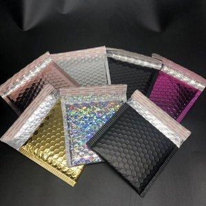 Gold Foil Plastic Padded Bubble Envelopes Bags Mailers Envelope With Bubble Mailing Bag Business Supplies 15*13cm+4cm