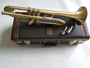 New Bach Trumpet B flat trumpet LT197GS-77 musical instrument heavier type Gold plating Trumpet playing music With Mouthpiece