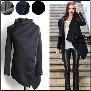 Sudadera de diseñador para mujer Otoño Invierno Abrigos largos de cachemir Moda Slim Fit Blazer Cuello Largo Lana Cazadora Ropa