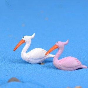 Hot Mini 5 PCS Flamingo Decor Forniture Fairy Garden ornamenti Moss Micro Paesaggio Crafts decorazioni creative Artigianato