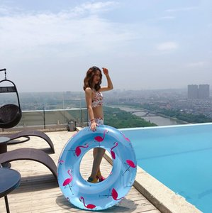 New wholesale 120cm Inflatable Flamingo Swimming Ring Pool Float for kids and adults High Quality by fast shipping DHL UPS TNT sp2.0