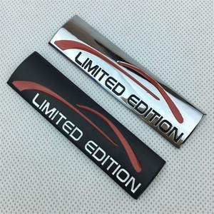 Car Styling 9 * 2.5cm metallo nero argento LIMITED EDITION emblema distintivo della parte posteriore del tronco laterale Loghi Auto autoadesivi del corpo
