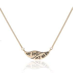 Meirenpeizi Ретро Тенденция Мода Золотой Цвет Темперамент Ожерелье Любовь Отца Сплава Цинка Надписи На Заказ Ожерелье