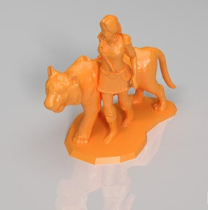 Female Knight Custom order high quality high precision digital models 3D printing service Funny Toys ST6167