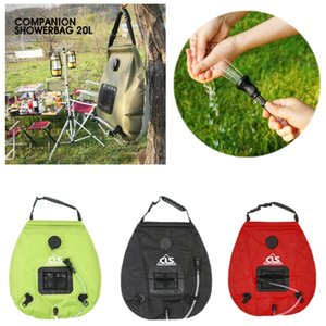 20L Portable Solar Water Bag Camping Shower Bag Outdoor Hiking Self-Drive Heated Bathing Sun Energy Bath Storage Bags Watering Equipments