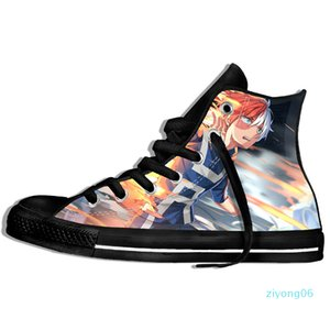 Custom Image Printing Sneakers Arrival Popular Anime My Hero Academia Harajuku Style Plimsolls Canvas Breathable Walking Shoes z06