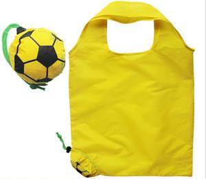 Diseñador-fútbol creativo bolsa de la compra bolsa de dibujos animados sonrisa verde puede plegar la bolsa de la compra