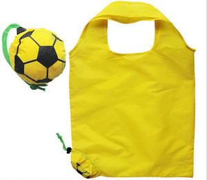 Designer-football sac vert créatif dessin animé sac sourire peut plier le sac