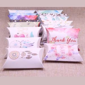 Nuevo DIY Candy Box Gift Catch Dream Design Birthday Paper Box Pillow Products Cartón Joyería Embalaje Hand Make