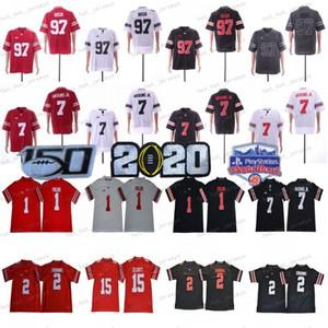 2020 Staat Ohio-Rosskastanien Jersey OSU # 1 Justin Felder # 2 Chase Junge JK Dobbins # 15 Elliott 7 Dwayne Haskins Teague 150. Fiesta Bowl