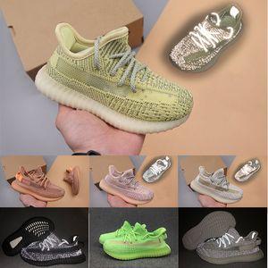 kanye west Boost 350 V2 Venta CALIENTE Niños Niños niñas Entrenadores Zapatillas de deporte Zapatos para niños grandes Arcilla negra Sintetizador Zapatos de diseñador para