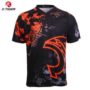 X-Tiger Downhill Jerseys Motocross Sports Racing Wear Quick-dry Bike DH Shirt 100%Polyester Cycling Jerseys Clothing MTB T-Shirt