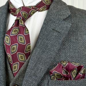 Printed Tie Sets Geometrische abstrakte Muster-Herren Krawatten Krawatten Einstecktuch 100% Silk Drucken-freies Verschiffen Einstecktuch Handarbeit einzigartige