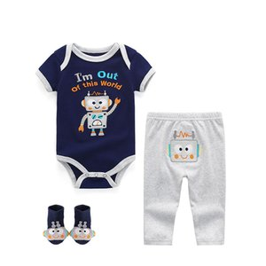 Baby Boys Clothes Newborn Infant Girls Romper+Pant+Hat 3Pcs sets Outfits Clothing 6 9 12M Roupas de Cotton Jumpsuit&Pajamas