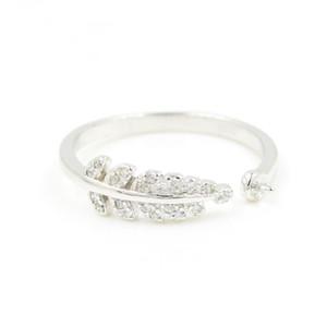 2019 Новый дизайн моды стерлингового серебра прекрасные листья настройки кольца для устричного жемчуга поделки ювелирные изделия DIY PS4MJZ017